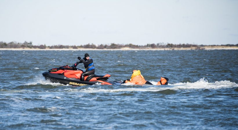 Jet ski rescue during SERE training. (U.S. Air Force photo by Senior Airman Ariel Owings)