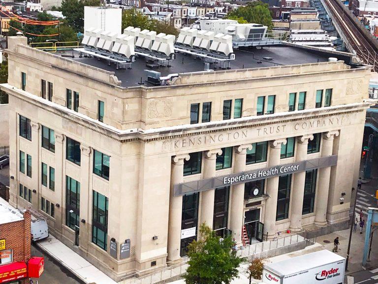 Esperanza opened a health center in a historic Kensington bank building in 2019. (Esperanza/Facebook)