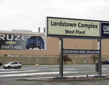 This Nov. 27, 2018 file photo, shows the General Motors Lordstown West plant in Lordstown, Ohio. Production ended at the plant in March, 2019. (AP Photo/Tony Dejak, File)