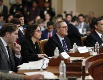 From left, Constitutional law experts, Harvard Law School professor Noah Feldman, Stanford Law School professor Pamela Karlan, University of North Carolina Law School professor Michael Gerhardt and George Washington University Law School professor Jonathan Turley testify during a hearing before the House Judiciary Committee on the constitutional grounds for the impeachment of President Donald Trump, on Capitol Hill in Washington, Wednesday, Dec. 4, 2019. (AP Photo/Andrew Harnik)