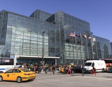 "Exterior of the Javits Center during the first day of New York Comic Con. New York City lawmakers are poised to adopt legislation requiring ""bird-friendly"" glass on all new construction. (Steve Luciano, File/AP Photo)"