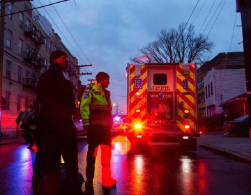 First responders and police officers arrive at the scene following reports of gunfire, Tuesday, Dec. 10, 2019, in Jersey City, N.J. (Eduardo Munoz Alvarez/AP Photo)