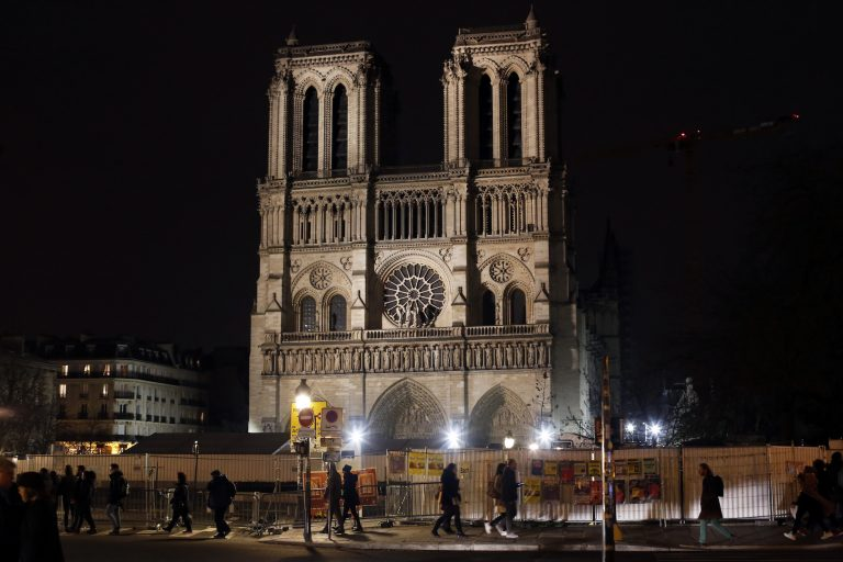 Notre Dame cathedral is pictured in Paris, Tuesday, Dec. 24, 2019. (Thibault Camus/AP Photo)