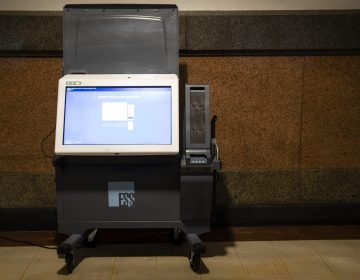 Shown is an ExpressVote XL voting machines displayed at City Hall, in Philadelphia, Wednesday, Oct. 2. (Matt Rourke/AP Photo)