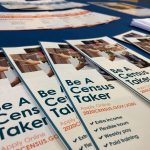 Brochures available at Census recruitment event in Camden County. (Joe Hernandez/WHYY)