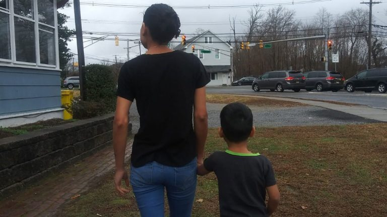 Andrea and her son (pseudonyms), who are awaiting an asylum hearing, live in central Jersey. (NJ Spotlight)