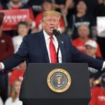 President Donald Trump speaks during a 2020 campaign rally Dec. 10, 2019, at the Giant Center in Hershey, Pennsylvania. (Matt Smith for WITF/PA Post)