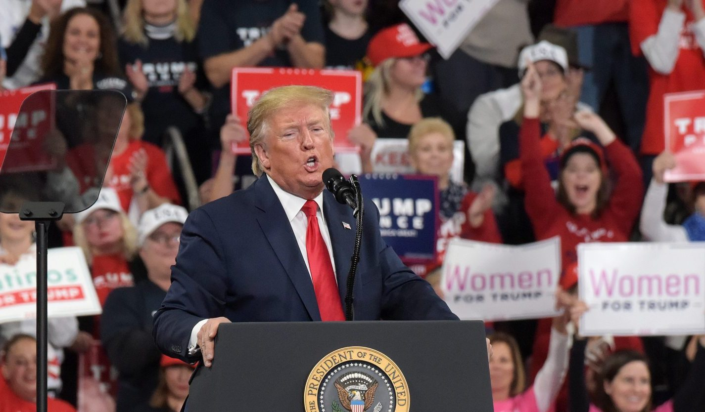 Defiant in face of impeachment, Trump and Pence bring reelection campaign to central Pa.