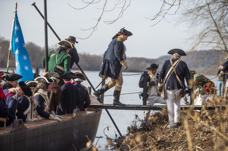 Washington Crossing Delaware Christmas Day 2021