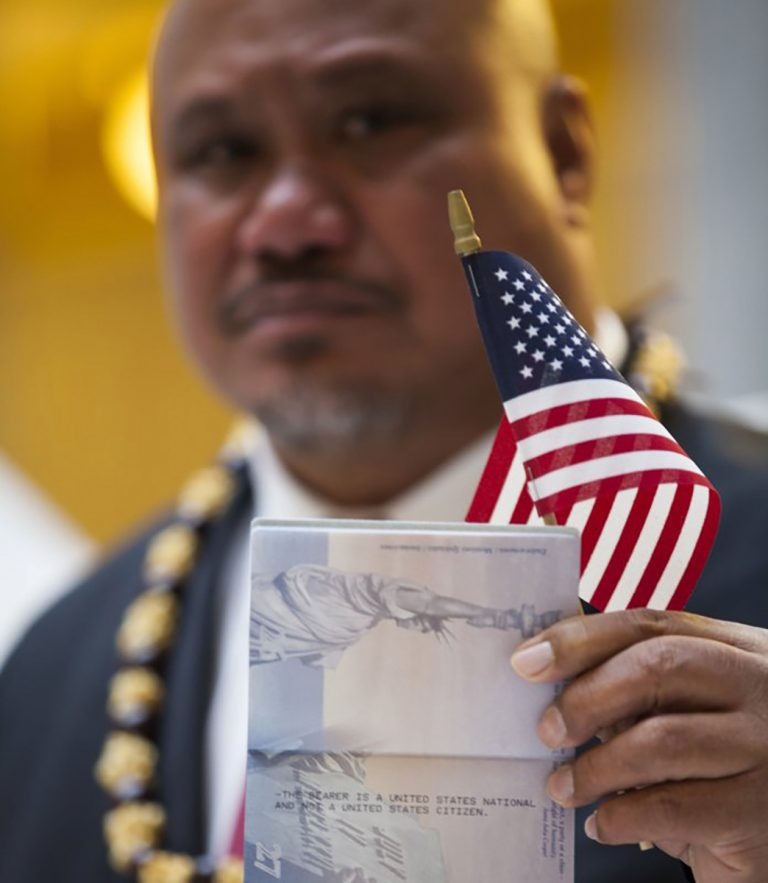 John Fitisemanu, an American Samoan, filed the lawsuit against the U.S. government after he was denied the opportunity to apply for federal government jobs listing citizenship as a requirement. (Katrina Keil Youd/AP Photo)