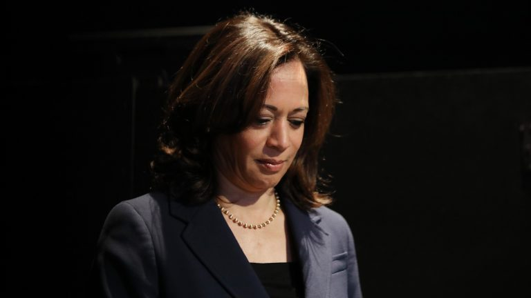 Sen. Kamala Harris, pictured at a Democratic presidential forum in Los Angeles in November, is dropping out of the 2020 presidential race. (Mario Tama/Getty Images)