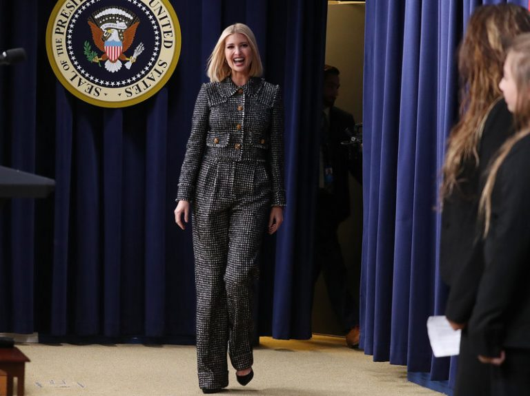 Ivanka Trump, who works at the White House as an adviser to her father, President Trump, said she has seen a shift in Republican attitudes on paid parental leave (Mark Wilson/Getty Images)