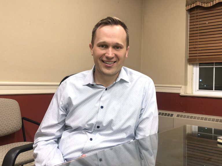 Jeff Martin easily defeated incumbent Kelly Yaede to be elected mayor of Hamilton Township, N.J.  He was first elected in 2017 as a member of the Township Council. (P. Kenneth Burns/WHYY)