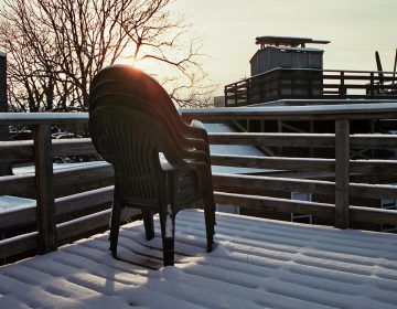 A Philadelphia roof deck on a snowy morning (Katherine Urbaniak/Flickr)