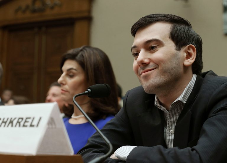 Martin Shkreli, former CEO of Turing Pharmaceuticals, appeared before the House Oversight Committee during a contentious hearing on drug pricing on Feb. 4, 2016. (Mark Wilson/Getty Images)