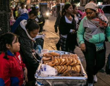 A variety of fried snacks and soft drinks are for sale in Mexico City's Centro Historico neighborhood. (Meghan Dhaliwal/for NPR)