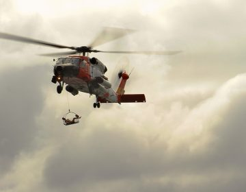 The U.S. Coast Guard came to the rescue of a 85-year-old man requiring medical assistance on a cruise ship heading to port in New Jersey Friday night. (U.S. Air National Guard photo)