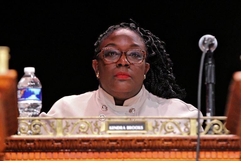 Philadelphia City Councilmember Kendra Brooks. (Emma Lee/WHYY)