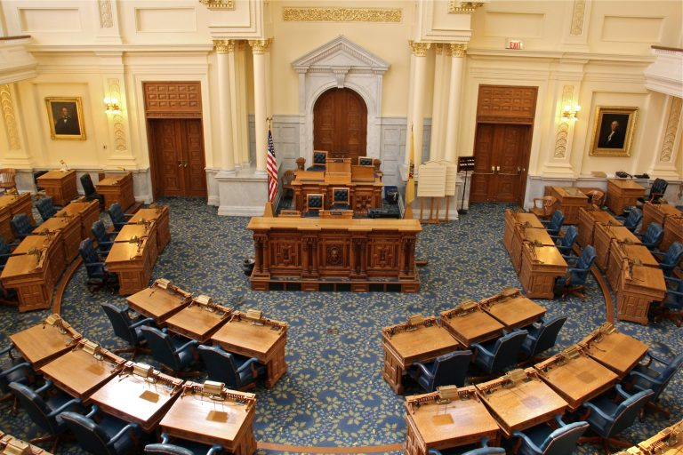 New Jersey Assembly chambers. (Emma Lee/WHYY)
