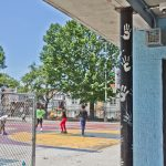 Barrett playground is one of 30 Philly parks that contain sonic devices that target young people by emitting a high frequency. (Kimberly Paynter/WHYY)