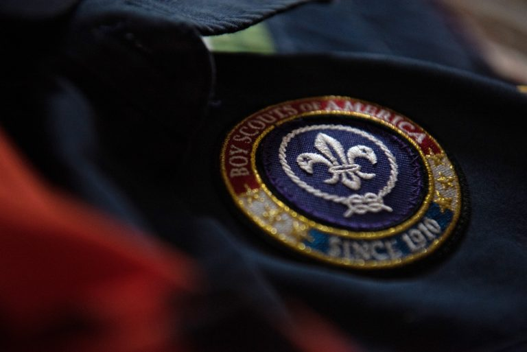 A Boy Scouts of America seal. (Kriston Jae Bethel for WHYY)