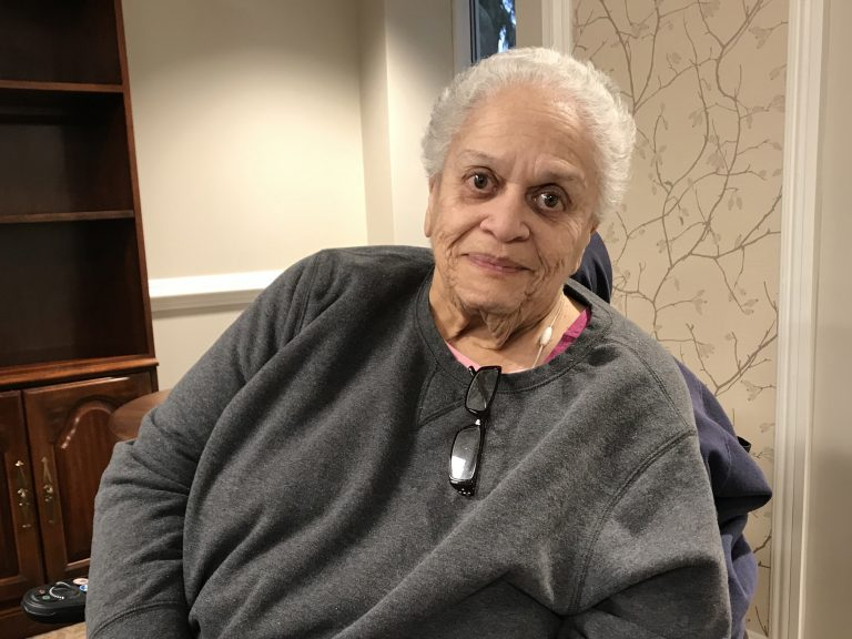 Gwen Eagleson is a Spelman College alumna who grew up in the segregated south. Her family befriended the Rev. Dr. Martin Luther King Jr. (Jennifer Lynn/WHYY)