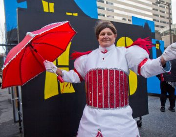 Jimmy Driadon is captain of the Greater Overbook String Band. 2020 marks his 70th parade. (Kimberly Paynter/WHYY)