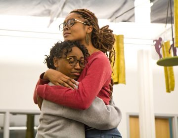 Danielle Coates (left) and Ang Bey (right) rehearse