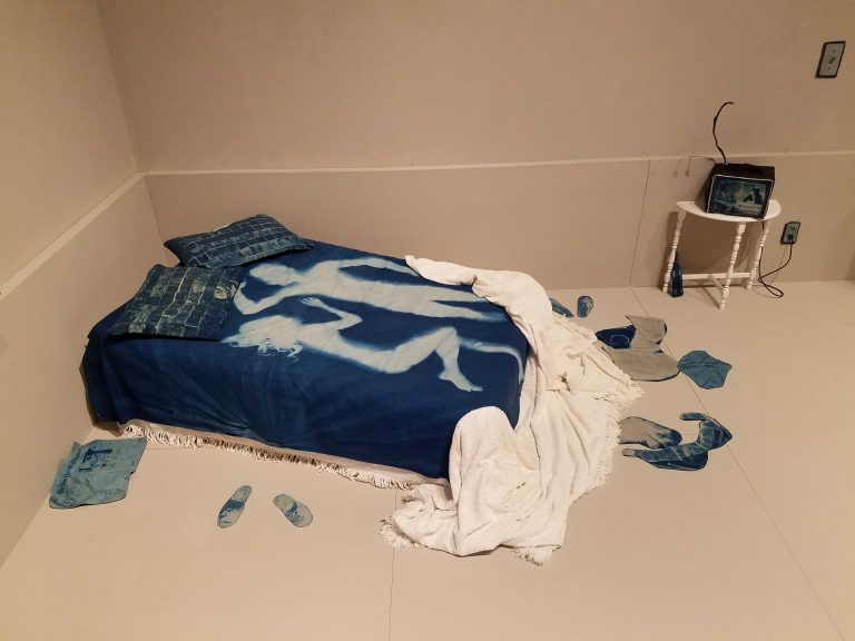 Blue Room (1970-73) by Catherine Jansen, at PAFA (Peter Crimmins/WHYY)