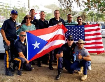 In this New Jersey State Police image from October 2017, New Jersey state troopers pose for a picture in Puerto Rico during a deployment after Hurricane Maria.
