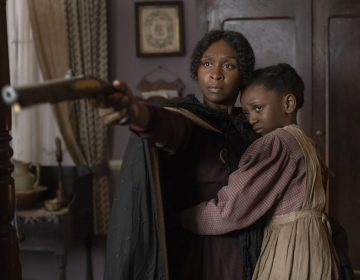 Cynthia Erivo (left) stars as Harriet Tubman along with Aria Brooks (right). (Glen Wilson/Focus Features via NPR)
