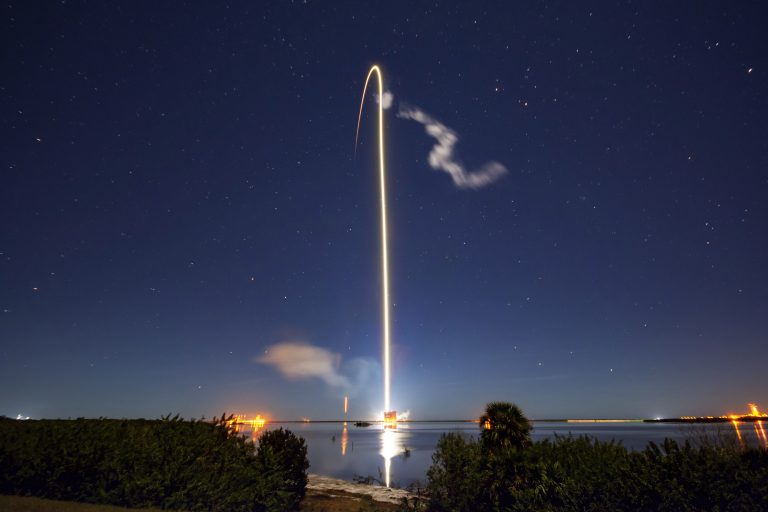 SpaceX has launched dozens of satellites as part of its Starlink project to bring high-speed Internet to every point on the planet. (SpaceX)