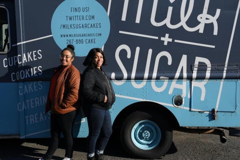 Mother and daughter duo Brittany and Marcel Maldonado took their bakery food truck business Milk + Sugar on the road in 2013. (Abdul R. Sulayman/The Philadelphia Tribune)