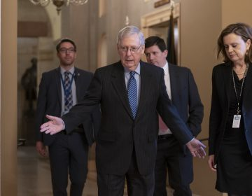 Senate Majority Leader Mitch McConnell, R-Ky., arrives for a closed meeting with fellow Republicans as he strategizes about the looming impeachment trial of President Donald Trump, at the Capitol in Washington, Tuesday, Jan. 7, 2020. (J. Scott Applewhite/AP Photo)