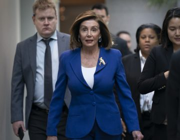 Speaker of the House Nancy Pelosi, D-Calif., arrives to meet with other House Democrats on the morning following Iranian attacks on bases in Iraq housing U.S. troops, at the Capitol in Washington, Wednesday, Jan. 8, 2020. (J. Scott Applewhite/AP Photo)