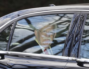 Former National security adviser John Bolton leaves his home in Bethesda, Md. Tuesday, Jan. 28, 2020. (AP Photo/Luis M. Alvarez)