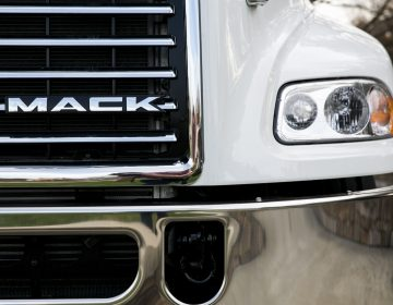 A Mack truck outside of Mack Trucks, Inc. headquarters in Greensboro, North Carolina. (Kristoffer Tripplaar/AP Photo)