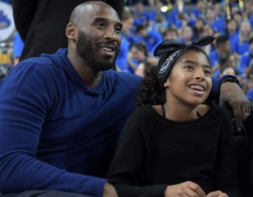 Kobe Bryant, the Los Angeles Lakers superstar with daughter Gianna Maria-Onore Bryant during an NCAA women's basketball game. Both of them died Sunday morning in a helicopter crash. (Kirby Lee via AP Photo)