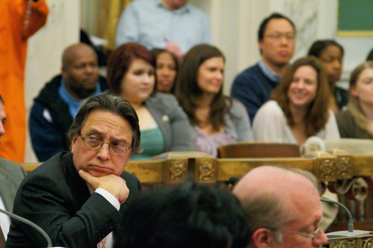 Frank DiCicco in City Council chambers in 2011. (Nathaniel Hamilton for WHYY)