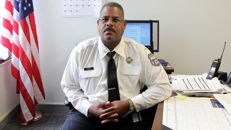 Former Chief Inspector Carl Holmes was arrested for allegedly sexually abusing three female officers. The city's police union is not backing him.  (Emma Lee/WHYY)