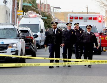 Philadelphia Police are responding to an active shooter situation in the Frankford neighborhood. (Emma Lee/WHYY)