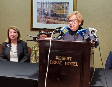 State Sen. Loretta Weinberg at press conference Thursday (NJ Spotlight)