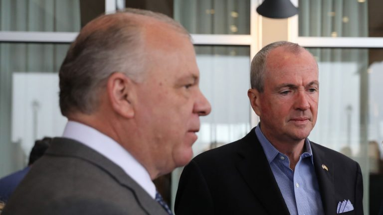 Are Gov. Phil Murphy, right, and Senate President Steve Sweeney on a collision course over issues in education? (Edwin J. Torres/ Governor's Office)