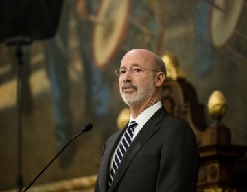 Democratic Gov. Tom Wolf delivers his budget address for the 2019-20 fiscal year to a joint session of the Pennsylvania House and Senate in Harrisburg, Pa., Tuesday, Feb. 5, 2019. (Matt Rourke/AP Photo)