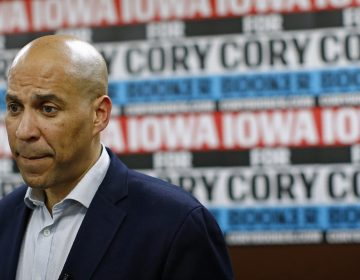 Senator Cory Booker says he will seek re-election to the Senate rather than continue his presidential campaign. (Patrick Semansky/AP Photo)