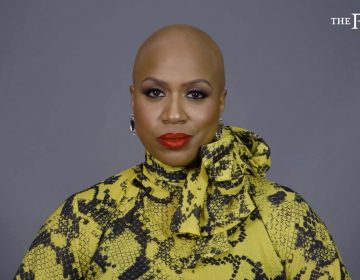 Rep. Ayanna Pressley appears in a video for The Root, the African American-focused online magazine, in which she reveals her bald head and talks about living with alopecia. (Courtesy of The Root and G/O Media via AP Photo)