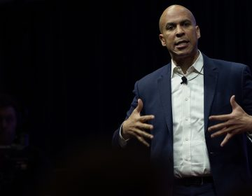 Democratic presidential candidate and New Jersey Sen. Cory Booker speaks at the Teamsters Vote 2020 Presidential Candidate Forum Dec.7 in Cedar Rapids, Iowa. (Win McNamee/Getty Images)