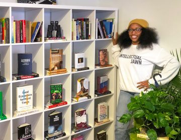 Jeannine A. Cook is the owner of Harriet's Bookshop, newly opened in Fishtown. (Michaela Winberg/Billy Penn)