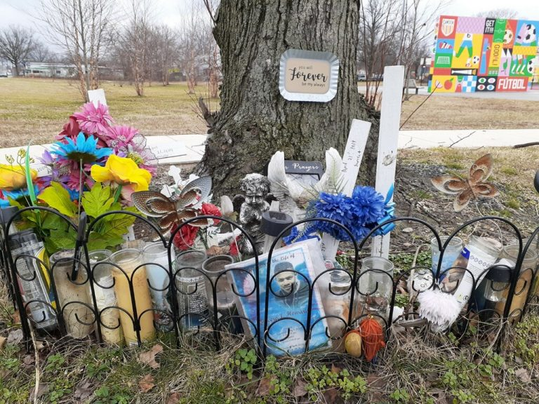Memorial at Von Nieda Park (Michael Butler for WHYY)
