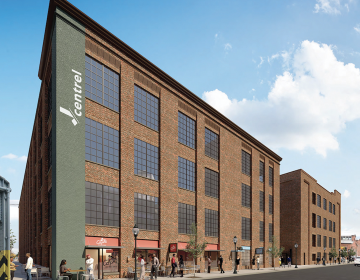 Shift Capital is redeveloping this former textile mill on Kensington Avenue into affordable workspaces, residences, and retail space. Telehealth will be one amenity offered to renters. (Shift Capital)